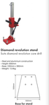 Revolution Core Drill, 1500w, 2 speed, Safety Switch, Comes with case
