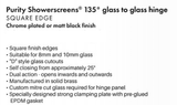 135 degree Frameless Shower Screen Glass to Glass Hinge