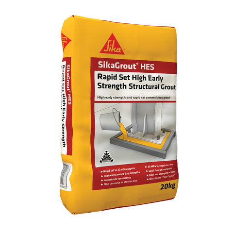 Sika 20kg High Early Strength Structural Grout, HES Grout, Non Shrink