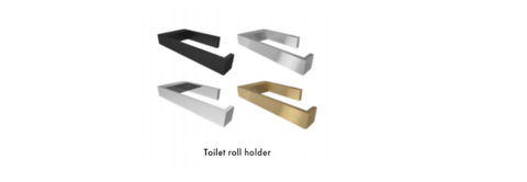 Toilet Paper Roll Holder.Stainless Steel, Choose finish, Comes with screws etc