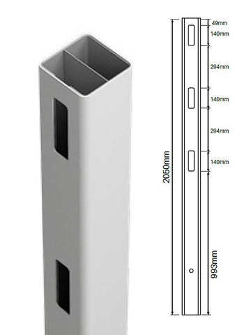 Heavy Duty 127MM X 127MM 1 way gate post - 3 Rail  Hampton Fencing Post