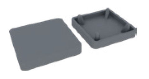 Flat top plate with extended lip for semi frameless pool fence posts