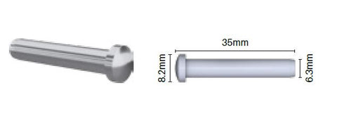 Dome head terminal   3.2mm   Stainless Steel 316