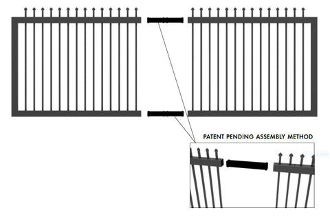 Zeus steel sliding gate kit 1790MM or 2090MM H x 4260mm W