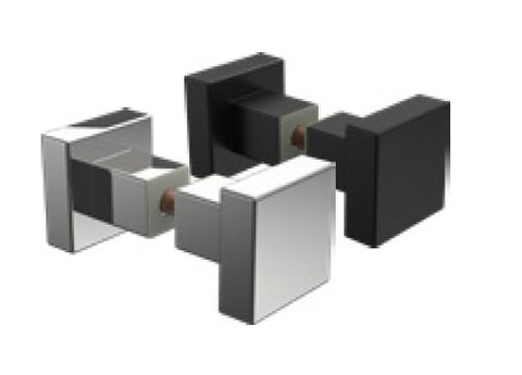 Square recessed knob for shower door