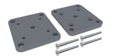 65x65mm post base plate set POWDER COATED ALUMINIUM