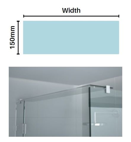 GLASS BRACE PANELS, can be used for glass header bars or shelving