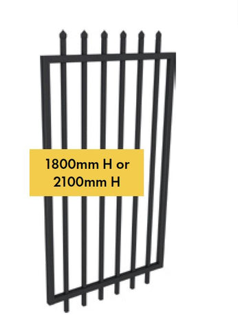 Zeus aluminium gate 1800MM OR 2100MM H x 975MM W