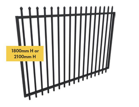 Zeus steel 2450mm gate 1800MM OR 2100MM H X 2450MM W