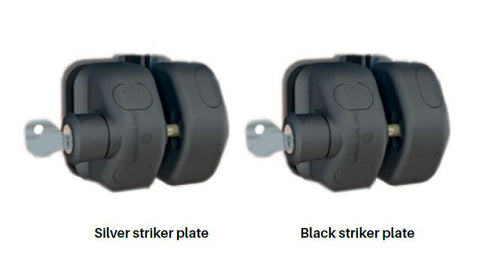 D&D side pull latch kit Black Z striker LOCKABLE,