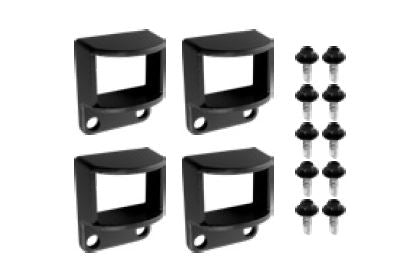 Horizontal brackets - 4 pack POWDER COATED ALUMINIUM, Choose colour