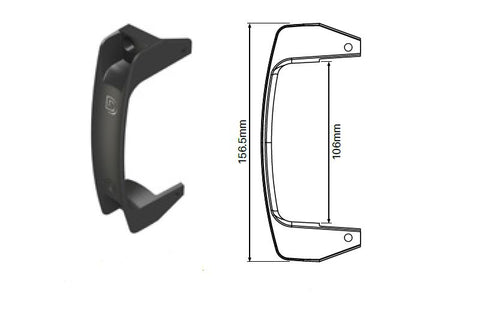 D&D Gate handle Black polymer finish
