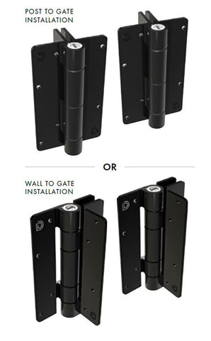 Kwik Fit® Aluminium hinge pair ADJUSTABLE TENSION