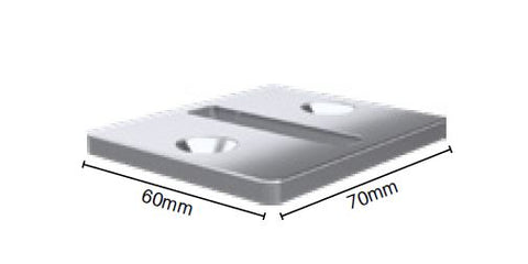 70x60mm base plate