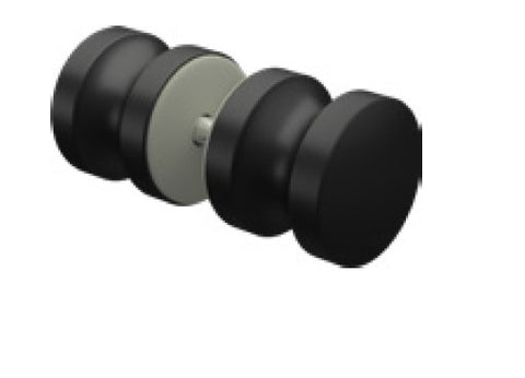 Matt Black Solid premium alloy round recessed knob for shower door