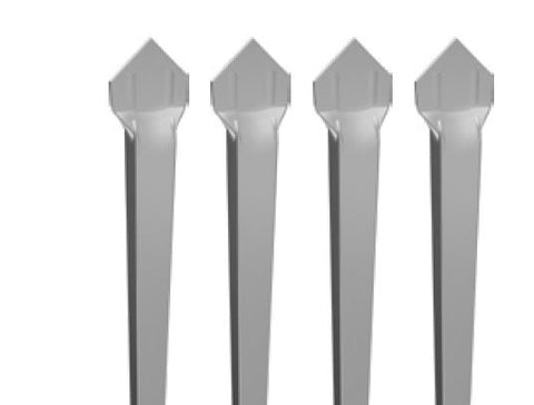 Zeus aluminium pickets - 4 pack 2100MM LONG - MILL FINISH