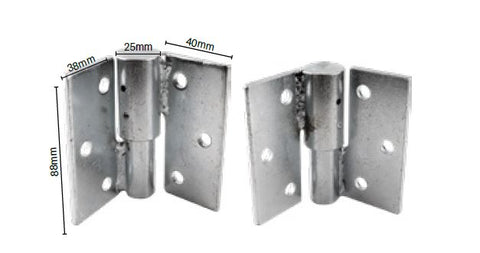 Zeus hinges, security gate hinges