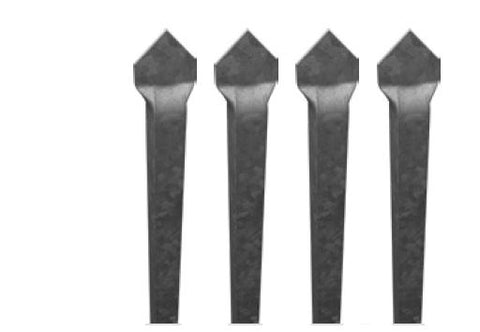 Zeus steel pickets - 4 pack 2100MM LONG