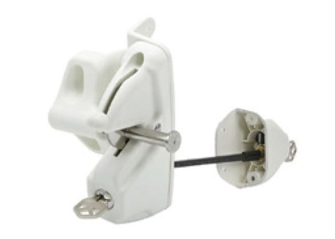 White Lokk Latch® deluxe KEYED TO DIFFER