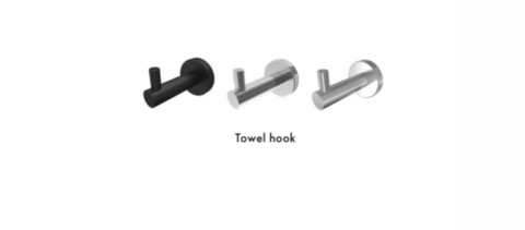 Bathroom Robe Hook, Towel Hook, Stainless Steel, Matt Black, Brushed Satin