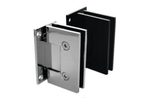 90° Frameless Wall to Glass Shower Door Hinge Wall Mounted 10-12mm SS Polished