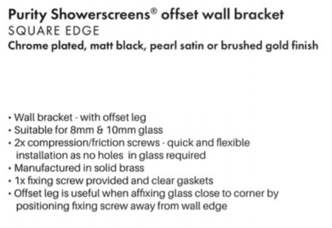made from brass square Shower screen bracket  8-10mm