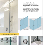 10mm Frameless Sliding Shower Screen, Highest Quality, Up to 1940mm wide