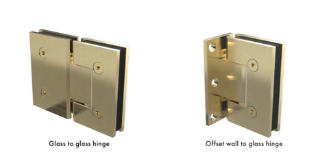 Brushed Gold Frameless glass shower door hinge, very high quality,8 - 10mm glass
