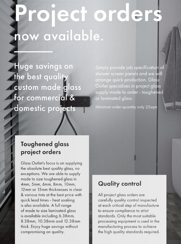 Glass, Custom Project Orders, Any Glass, Toughened, Laminated, Get a Quote