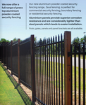 Spear Top Black Heavy Duty Security Steel fencing fence panels,SUPERIOR STRENGH