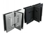 3 way Shower Door Hinge, T style hinge, Chrome or Matt Black