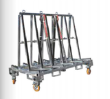 A frame trolley, glass trolley, a frame for stone,hot dip galvanised with straps