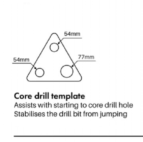 Core Drill Template - Guide 54mm 63mm 76mm Diamond Core Bits Attachment Drilling
