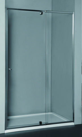 Adjustable Semi-Frameless Wall to Wall Shower Screen - 6 mm glass - Pivot Door