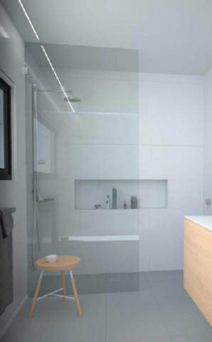 Frameless Fixed 10mm Safety Glass Panel Shower Screen choice - fixings and sizes
