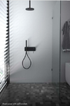 Frameless Fixed 10mm Safety Glass Panel Shower Screen choice - No Support Arm