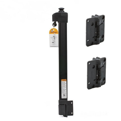 Pool Gate Lock Magna Latch Kit with Multi Fit Hinges D & D Technologies