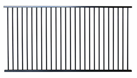 Aluminium tubular pool fence flat top, certified, CHOICE OF SIZES and gates
