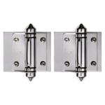 Master Range Hinge Set for Frameless Glass Pool Fence Gate, Self Closing