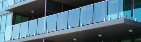 Frameless 12mm Glass Balustrade Panels, 970MM HIGH  choose your size,