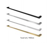 Stainless Bathroom towel rail, Brushed Gold, Black, Brushed Satin or Polished