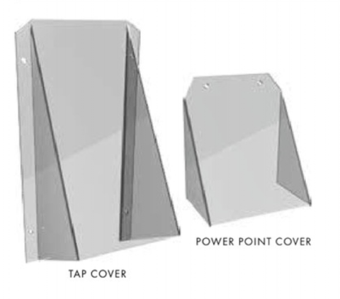 60 Degree pool fence safety cover, toe hold prevention, tap cover, Thermoplastic