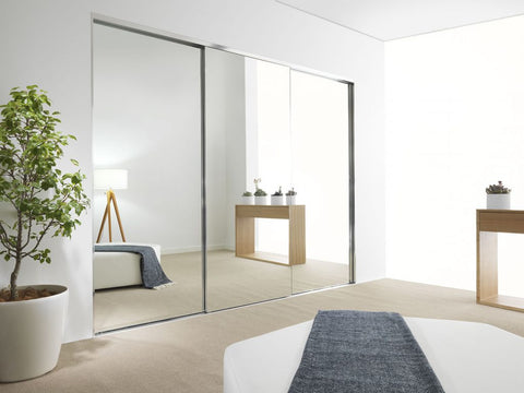Mirrored Sliding Wardrobe Door System, Made to Order