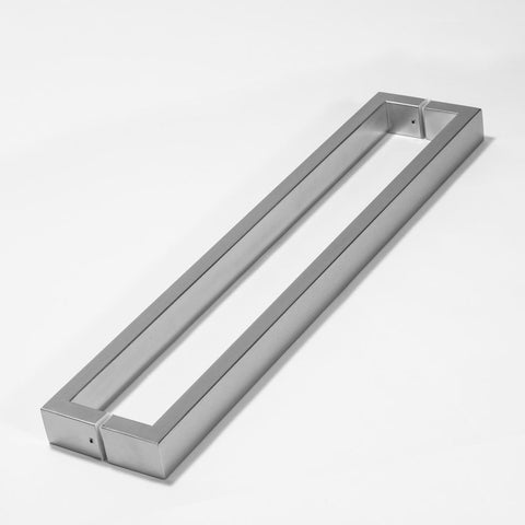 D TYPE HANDLE RECTANGULAR D 620X40X20 600MM CTC   GLASS, TIMBER OR ALUMINIUM DOORS