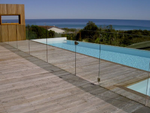 Channel Glazed Glass Pool Fence Glass Panels, 1350mm high, Choose Width