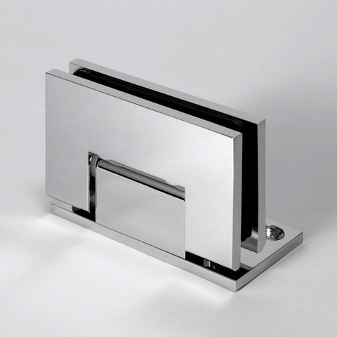 FORGE SHOWER HINGE MICRO GLASS TO WALL L-SHAPE 90 DEGREE  6mm and 8mm glass