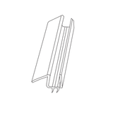 FRAMELESS SHOWER DOOR CLEAR FLAP PVC WATERSEAL 10MM DOOR BOTTOM 750mm