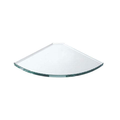 GLASS SHELF 10MM CLEAR TOUGHENED TRIANGLE 200 X 200