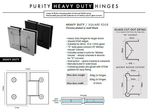 Heavy Duty Frameless Shower Screen Hinge, Glass to Wall or Glass to Glass