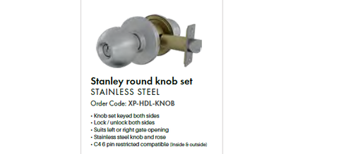 Stanley Knob Set, Stainless Steel